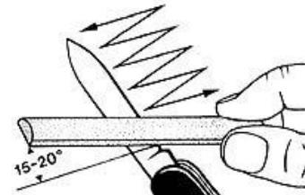 aiguiser couteau suisse