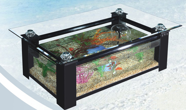 aquarium table basse de salon