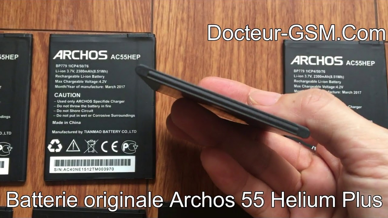 archos 55 helium plus batterie