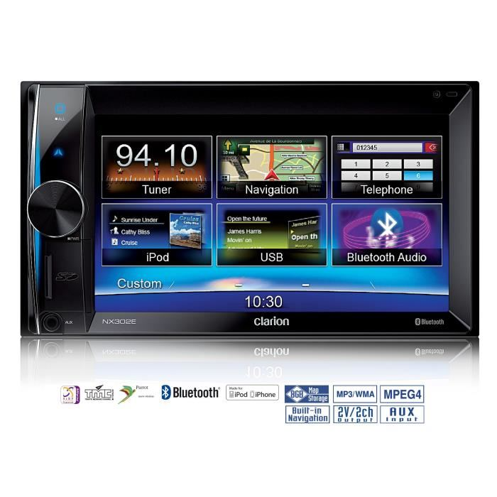 autoradio double din gps bluetooth