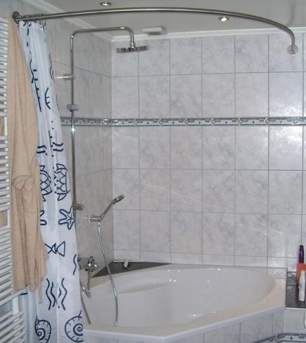barre de douche baignoire d angle
