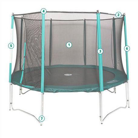 barre de rechange trampoline