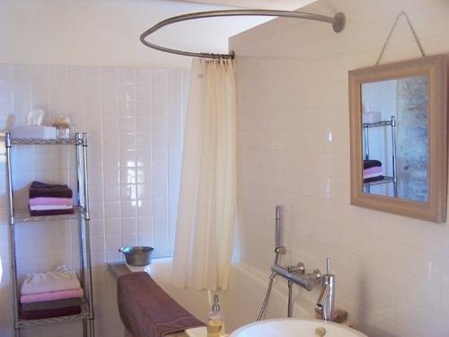 barre de rideau de douche pour baignoire