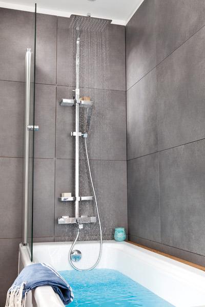 barre douche pour baignoire