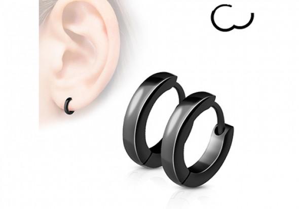 boucle d'oreille homme noir