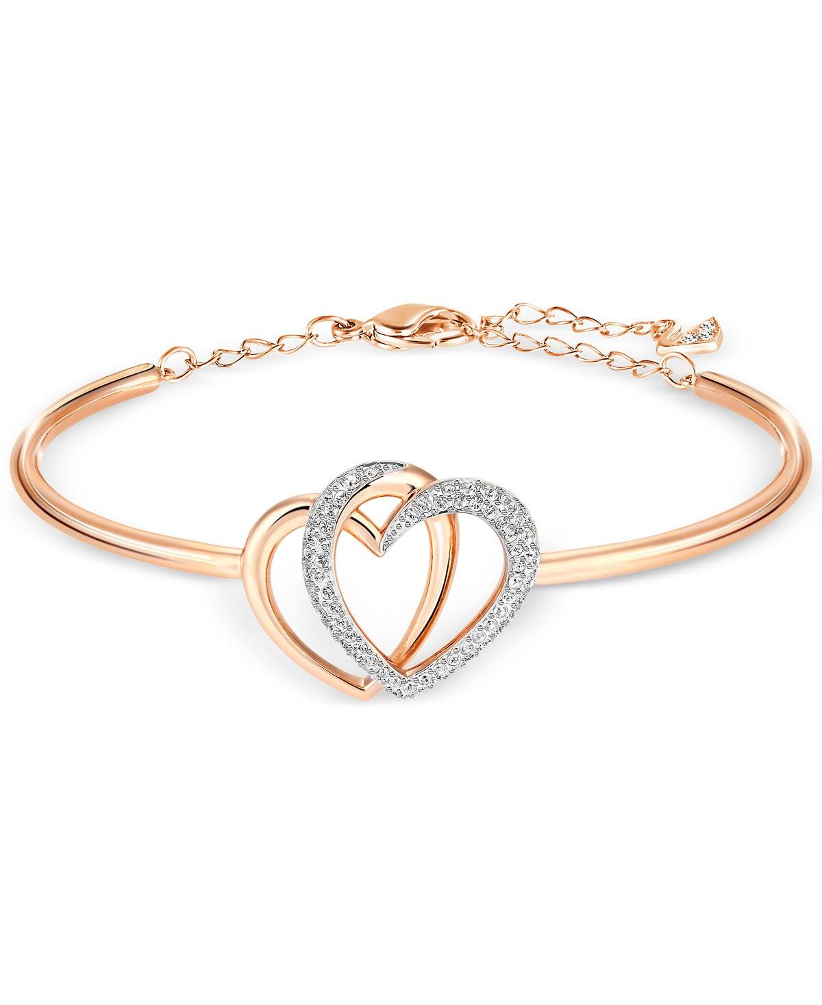 bracelet coeur swarovski