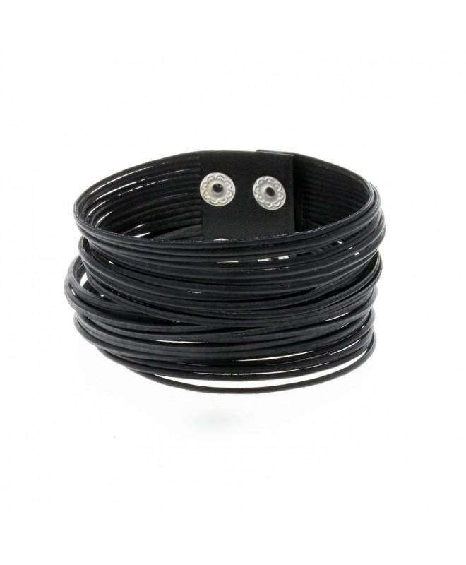 bracelet cuir noir femme