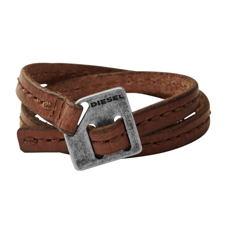 bracelet homme diesel cuir