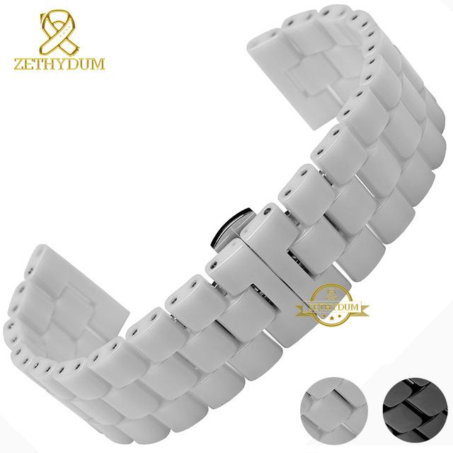 bracelet montre ceramique blanc
