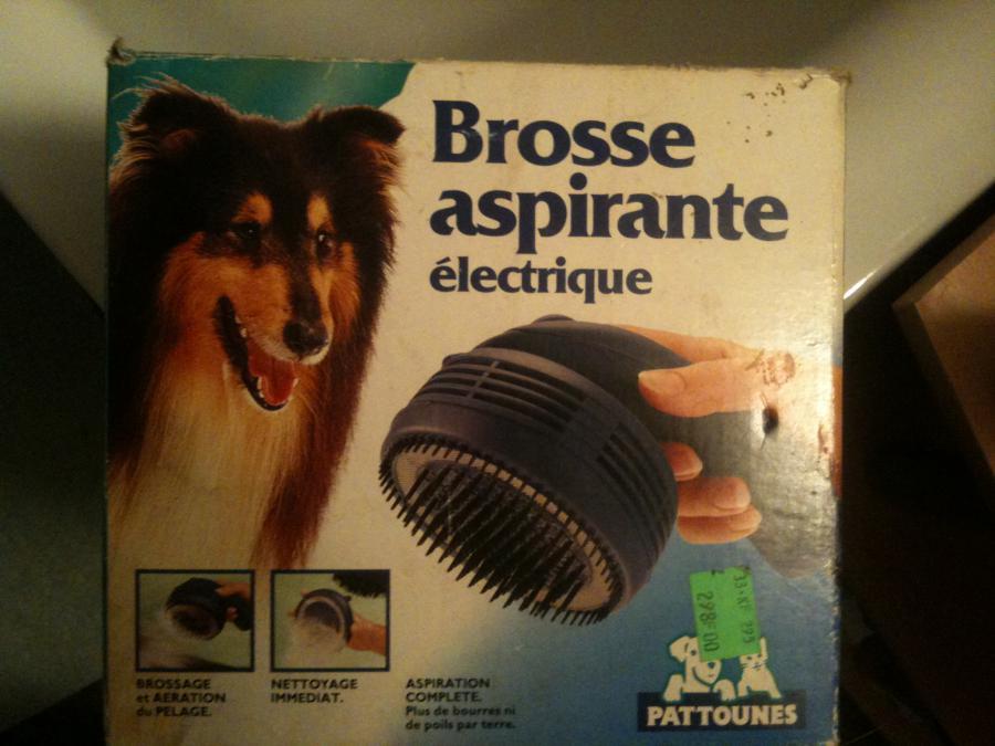 brosse electrique chien aspirante