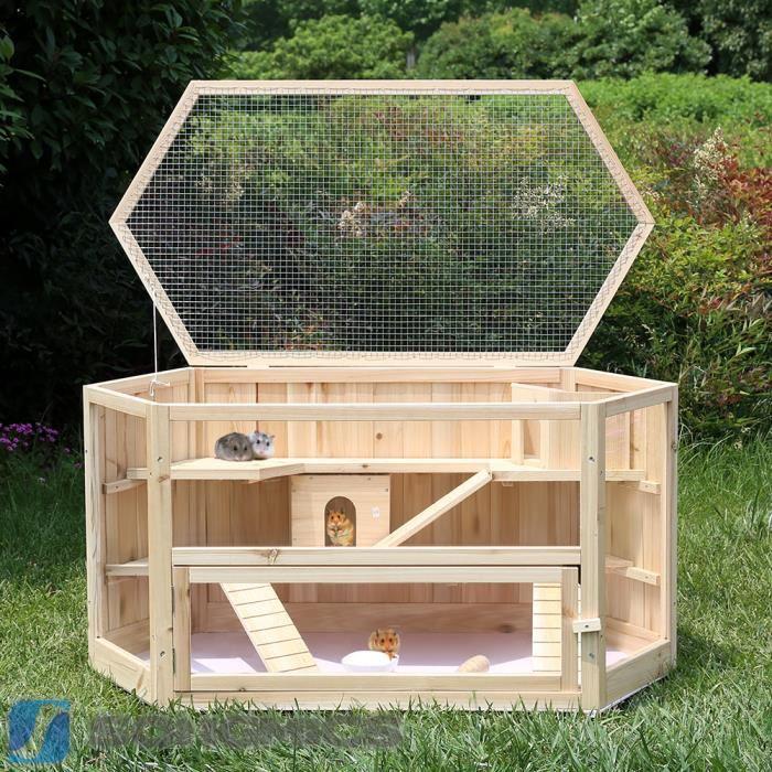cage en bois pour cochon d'inde