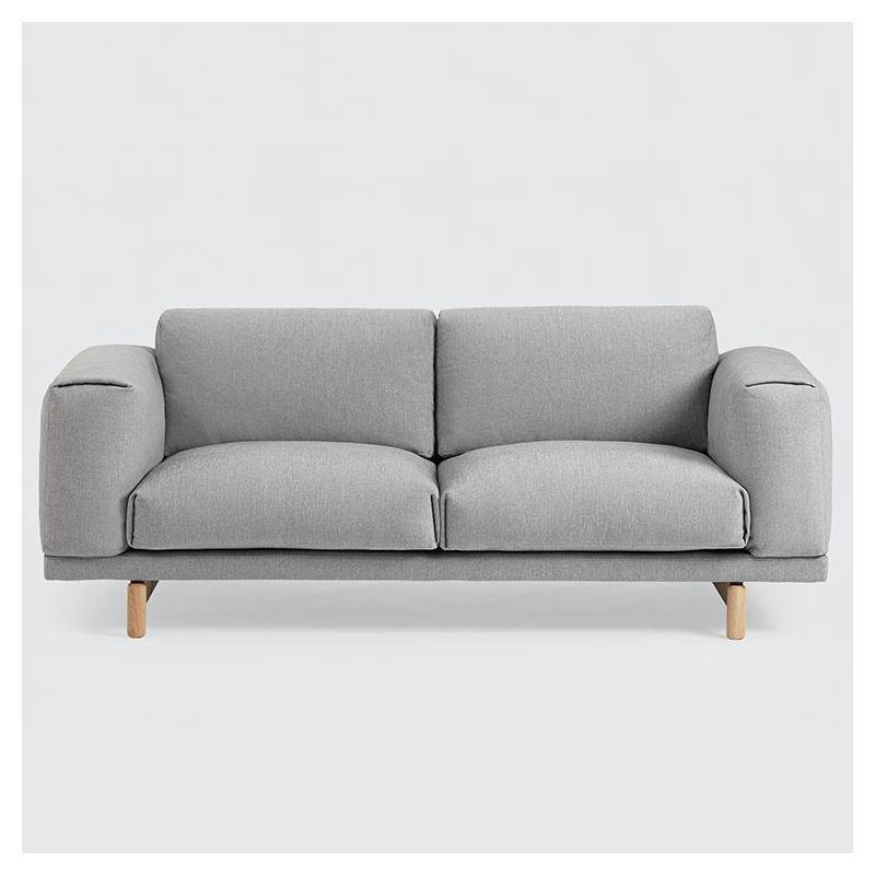 canapé 2 places gris