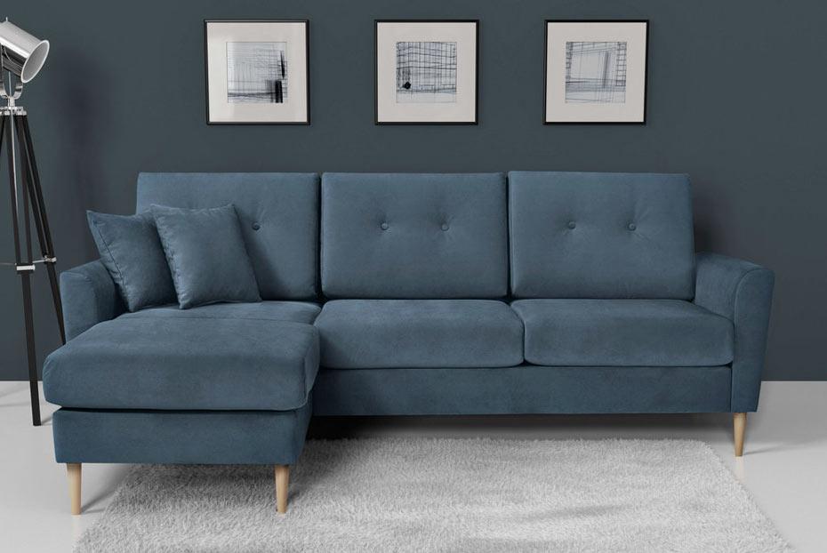 canapé bleu gris