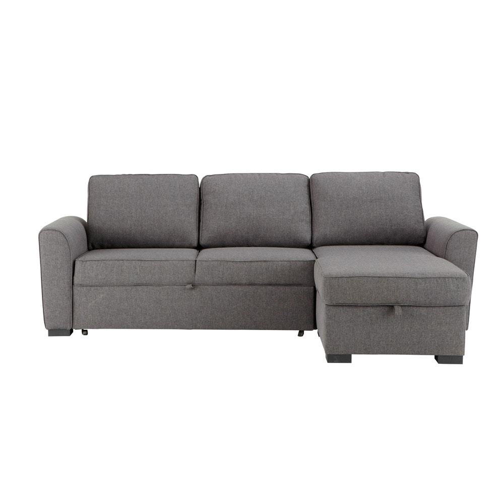 canapé d angle convertible gris