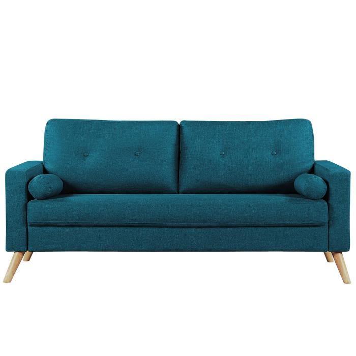 canape tissu bleu