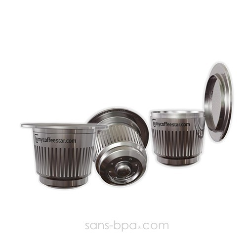 capsule rechargeable nespresso inox
