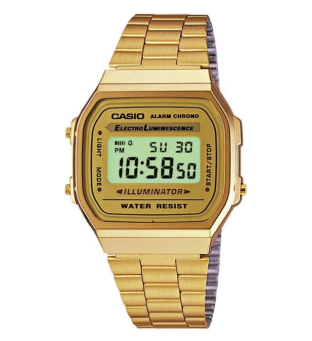 casio montre doree