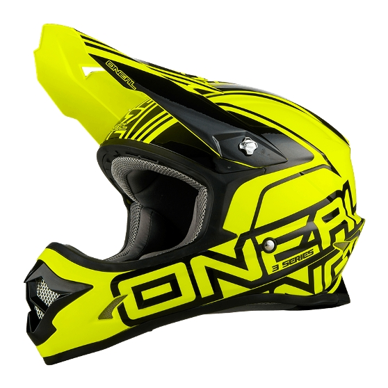 casque cross jaune fluo