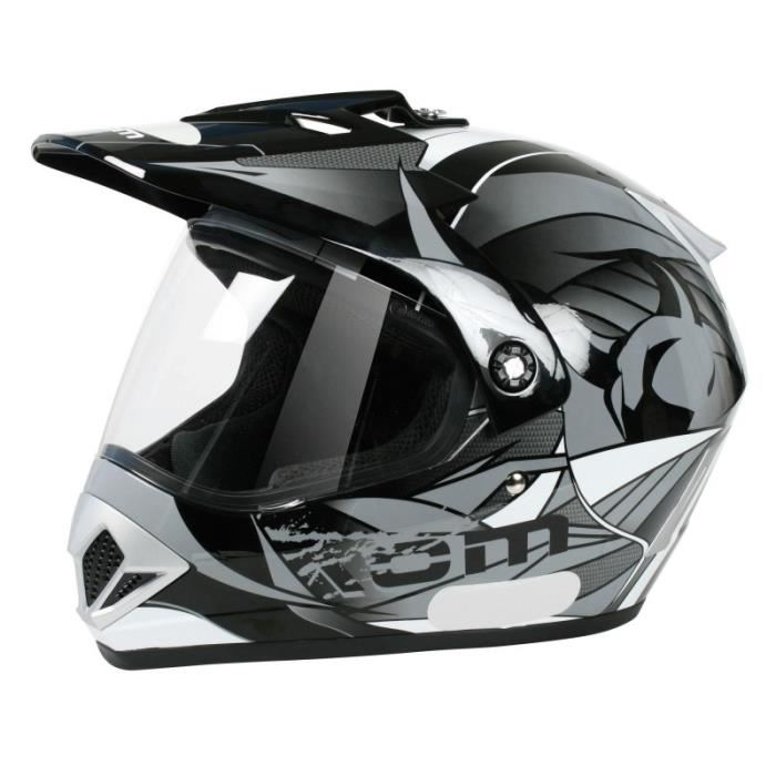 casque cross visiere