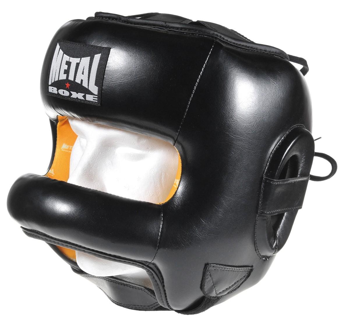 casque de boxe avec barre