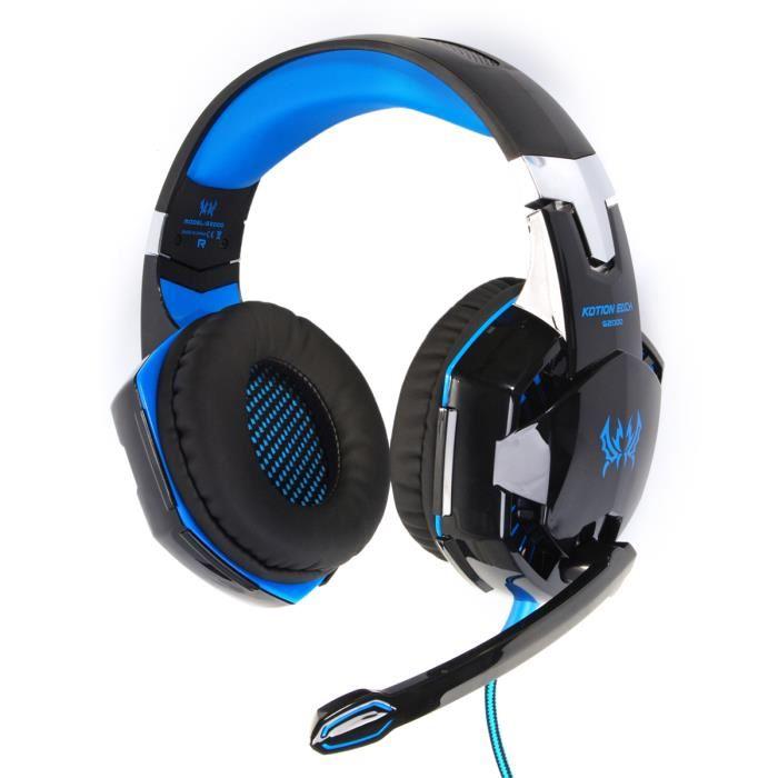 casque ecouteur audio multimédia filaire micro pour jeux gaming pc