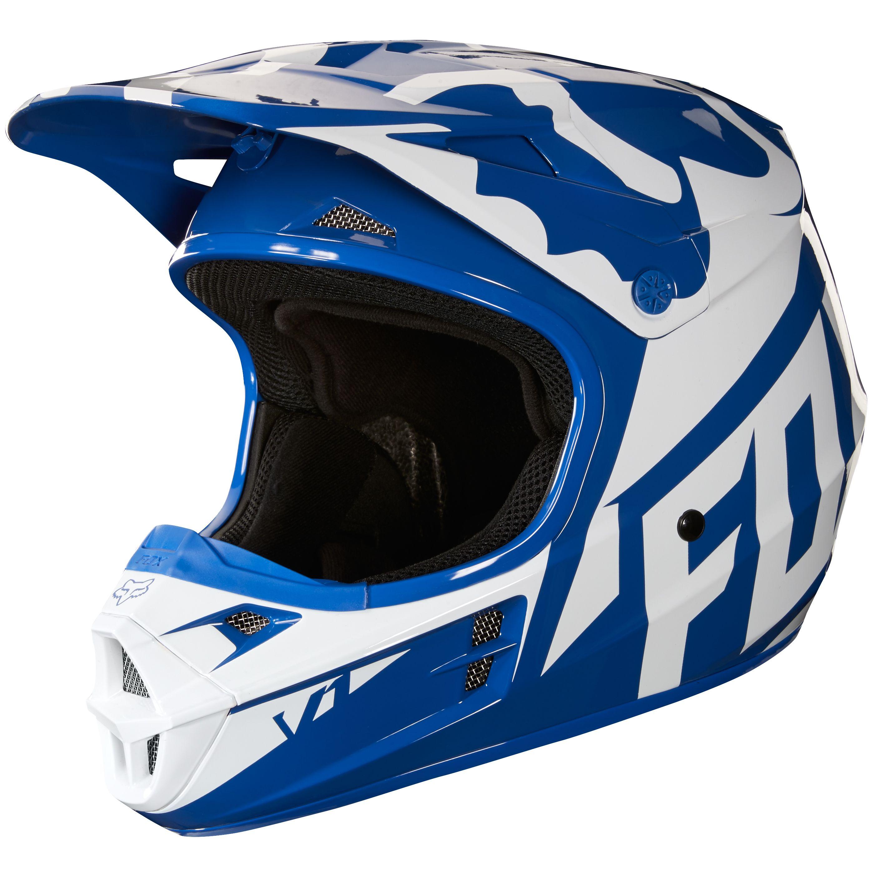 casque fox bleu