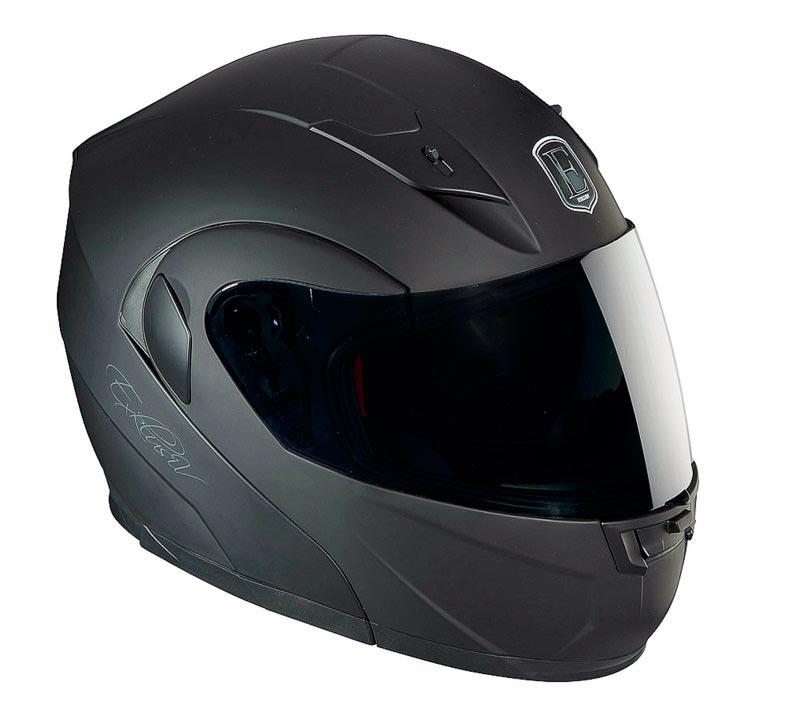 casque moto noir mat