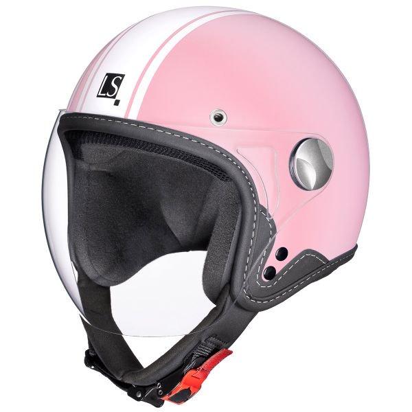 casque moto rose
