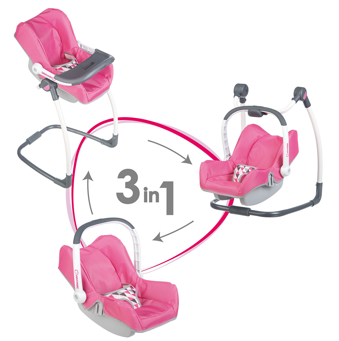 chaise haute smoby 3 en 1