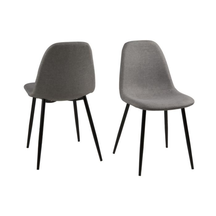 chaise scandinave pied noir