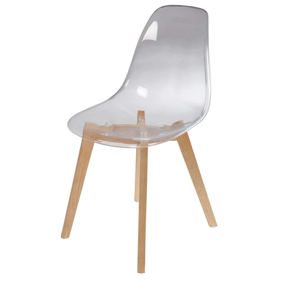 chaise transparente scandinave