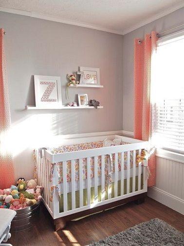 chambre bébé fille corail