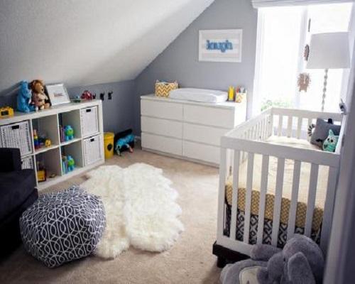 chambre fille gris et blanc