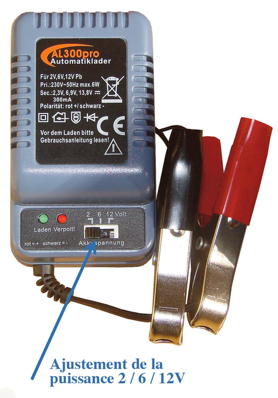 chargeur batterie 6 volts