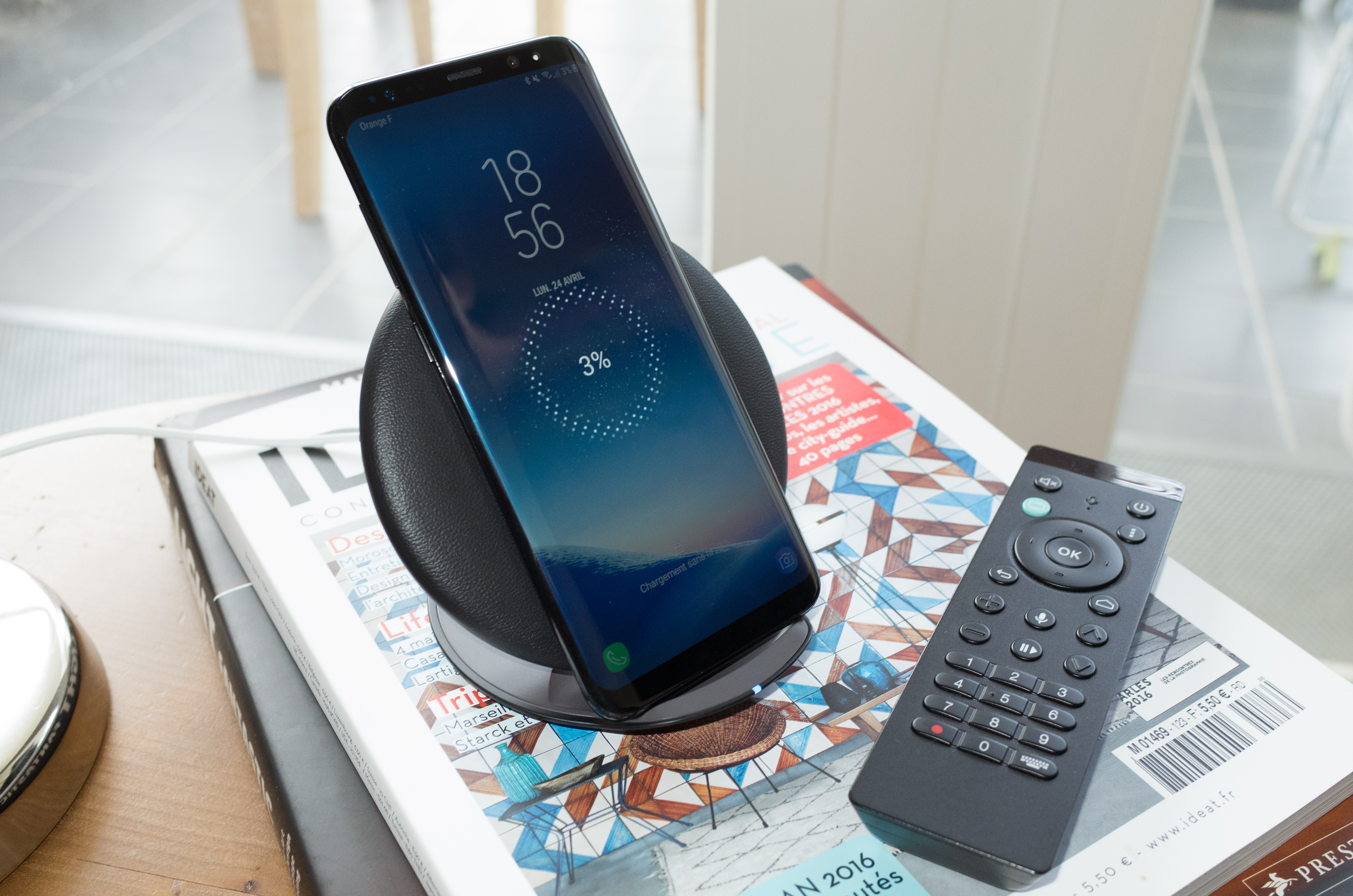 chargeur induction galaxy s8