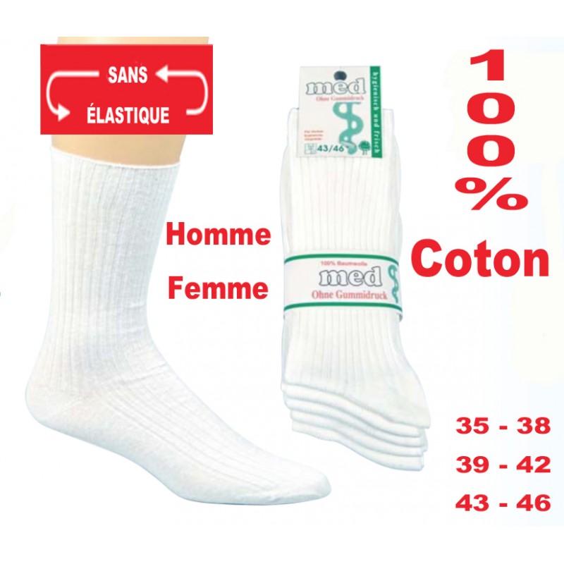 chaussette sport 100 coton