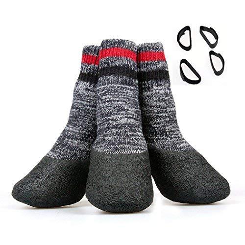 chaussettes antidérapantes chien