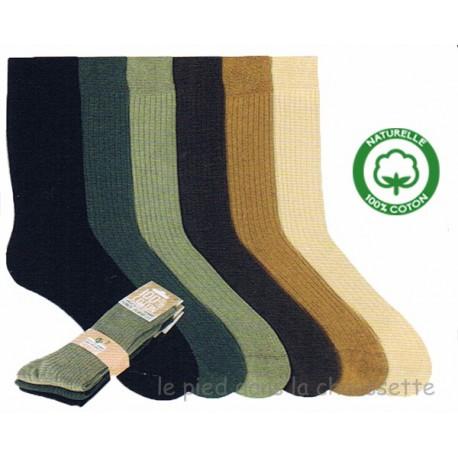 chaussettes pur coton