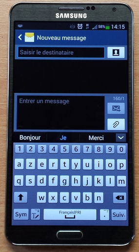 clavier samsung galaxy note 3