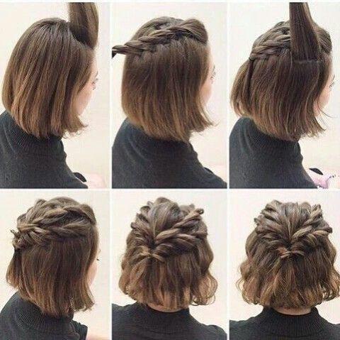 coiffure pour cheveux court facile a faire