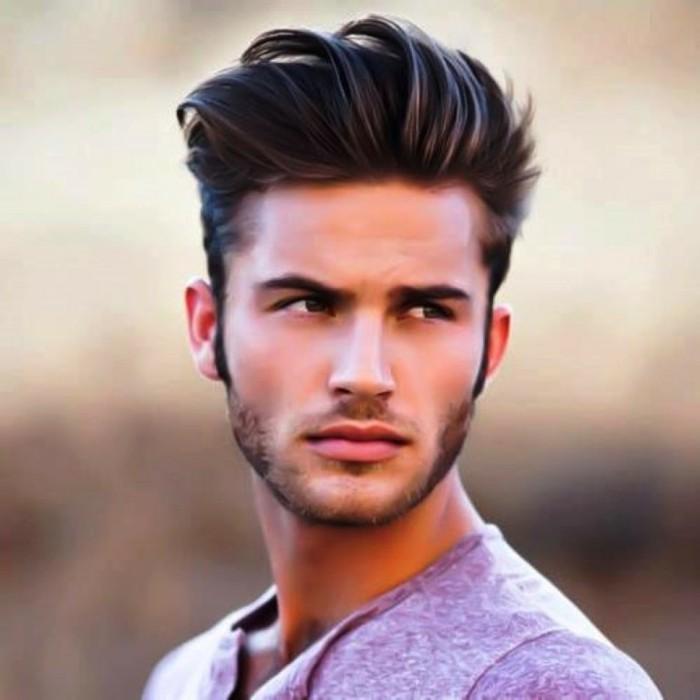 coiffure pour cheveux épais homme