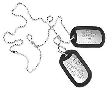 collier plaque militaire personnalisé