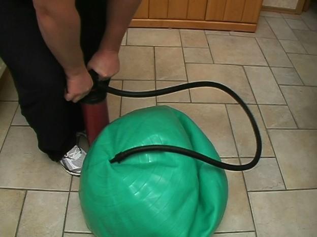 comment gonfler un ballon d exercice