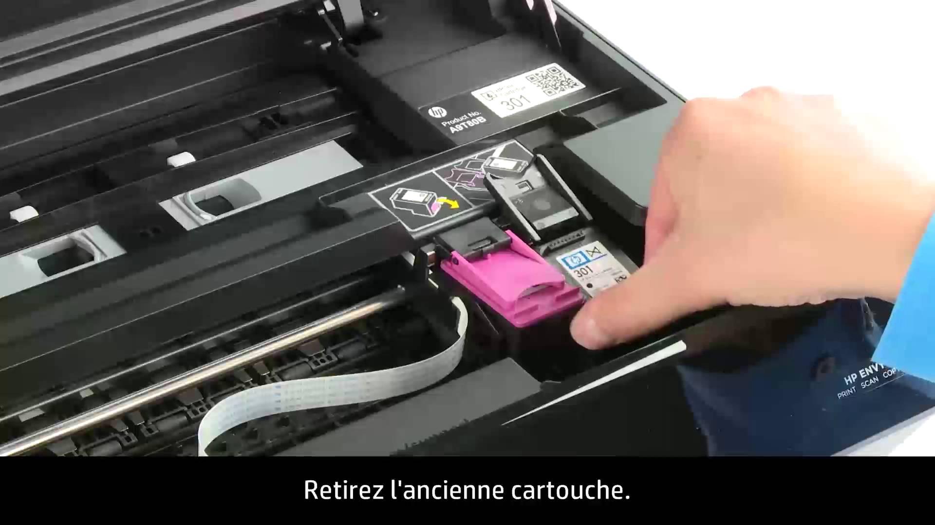 comment mettre une cartouche d'encre