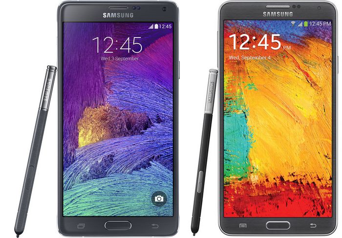 comparer note 3 et note 4