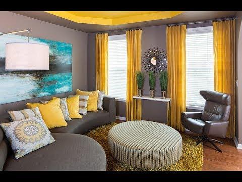 décoration salon jaune