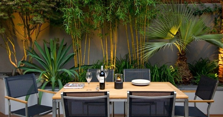 decoration terrasse avec bambou