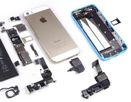 demontage iphone 5 c