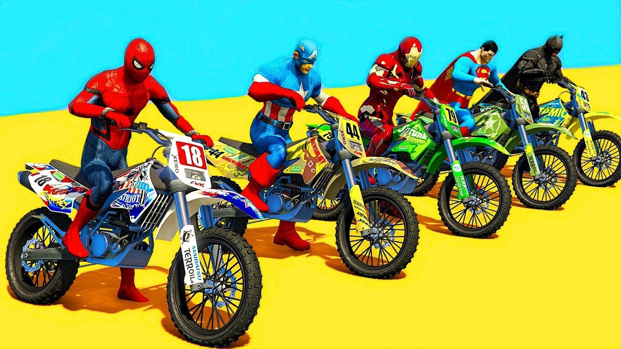 dessin animé moto cross